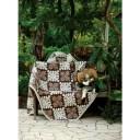 ソファー カバー 南国にいるようなデザイン 人気商品 マルチカバー 190×240cm ブラウン