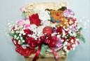 クリスマスによせて 生花 アレンジ クリスマス 花束 フラワーギフト 花の贈り物 誕生日 お祝い 開店祝い 出産祝 内祝い プレゼント