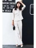 【SALE/37%OFF】Dress Lab Dress Lab/ノーカラーペプラムフォーマルスーツ クリーム ビジネス/フォーマル【RBA_S】【RBA_E】【送料無..