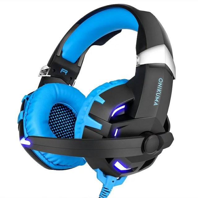 【送料無料】 ONIKUMA K2 7.1ch ブルー ゲーミング ヘッドセット 【正規代理店】ヘッドホン ヘッドフォン ヘッドセット 高音質
