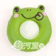 【新品】スクイーズ(食品系/おもちゃ) 野いちご イクミママドーナツ カエル緑 マザーガーデン
