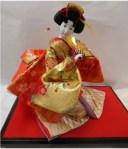 久月作 日本人形(尾山人形) 10号 座り 【舞】 Japanese doll 〈日本の伝統品 にほんにんぎょう 座り人形 和人形 伝統人形 お人..