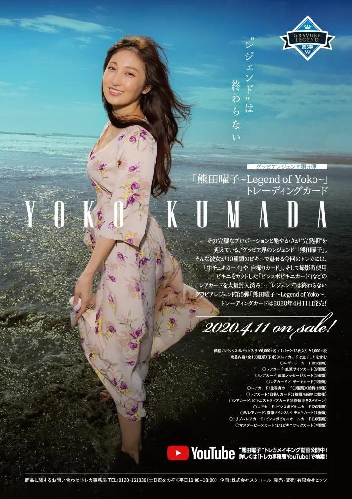 【チェキ入りフレーム付き!】「熊田曜子〜Legend of Yoko〜」トレーディングカード 5ボックス(4月11日発売)