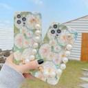 iPhone Flower Pearl Handy belt Case iPhone ケース フラワー パール ハンディベルト 花 ジュ……
