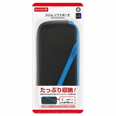 コロンバスサークル Nintendo Switch用 スリムソフトポーチ ブラックブルー CC-NSSSP-BB