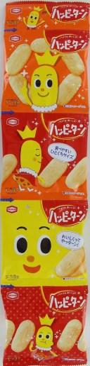 亀田 ハッピーターン4連 60g まとめ買い(×10)|4901313052624(dc)
