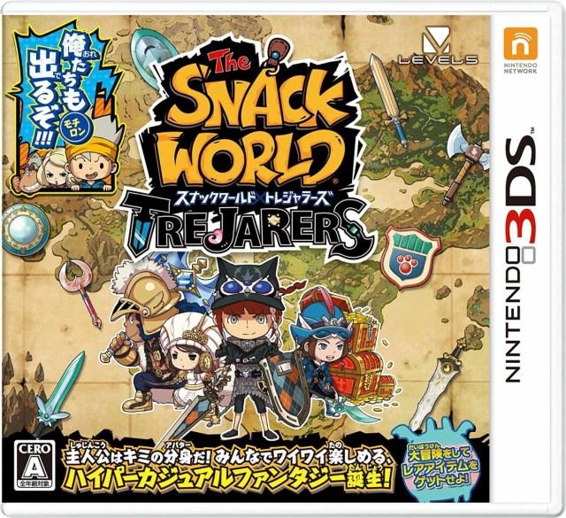 【中古】 3DS スナックワールド トレジャラーズ 【特典あり】 【CERO A(全年齢対象)】