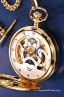 ラポート 懐中時計 RAPPORT (ポケットウォッチ) 手巻き フルハンター デュアルタイム PW40