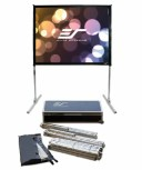 エリートスクリーン プロジェクタースクリーン クイックスタンド 120インチ(4:3) シネホワイト素材 Q120V1