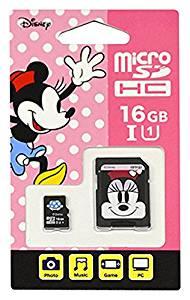 【Nintendo Switch対応】 ディズニー microSDカード アダプターセット 16GB ミニー[un]