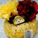 <お祝い用>[フラワー チーズ モンブランチーズケーキ]お子様が大好きなイチゴお誕生日のお祝いに!お好みのデコレーション果物を飾..