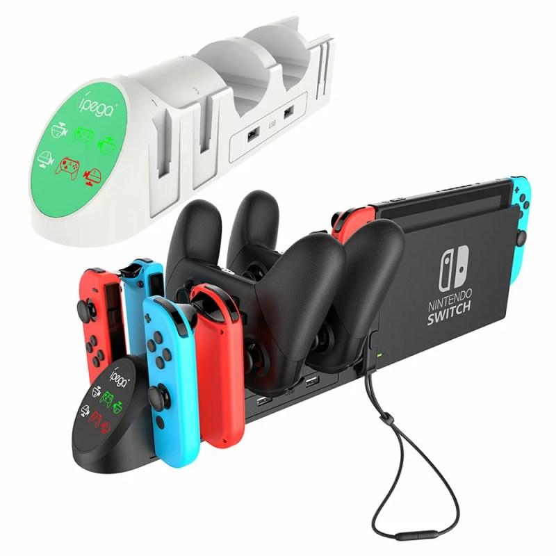 Nintendo Switch用 6in1 充電スタンド Joy-Con×4 PROコントローラー×