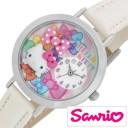 サンリオ ハローキティ 日本製 時計 Sanrio Hello Kitty 腕時計 レディース キッズ ウォッチ ホワイト MJSR-F03[アナログ かわいい お..