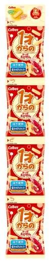 [スナック菓子] カルビー 1才からの かっぱえびせん 【塩分45%カット 油不使用】 (8g×4袋) ウェルネス