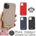 iPhone12mini iPhone12 iPhone12 Pro ケース レザー 背面 Orobianco シュリンク PU Leather Ba……