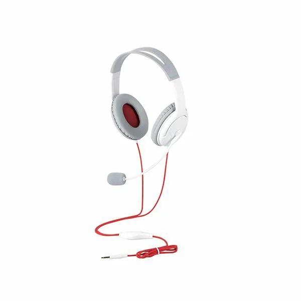 【送料無料】エレコム ゲーム向け 4極 両耳オーバーヘット 1.0m 1.5m延長ケーブル付 PS4 Switch対応 ホワイト HS-GM20WH