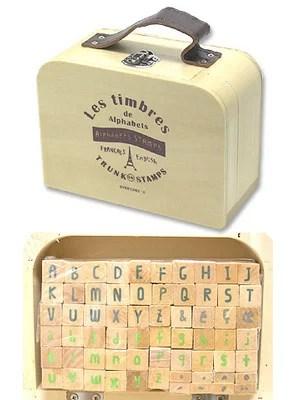 ウッドボックススタンプ  4001937-01 アルファベットS