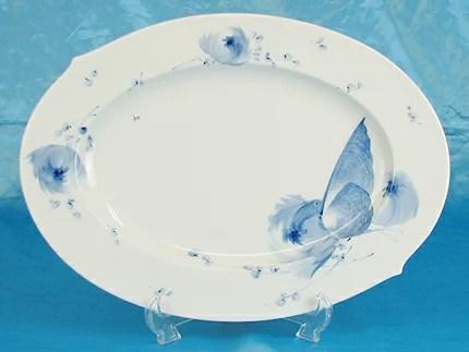 【40%OFF】マイセン 青い花オーバル35cmプレート 28307