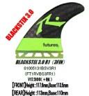"""""""【フューチャーズフィンシステム】 (FUTURES FINS) BLACKSTIX 3.0R1 ブラックスティックス 3本セット""""《送料無料》/サーフ サーフィン.."""