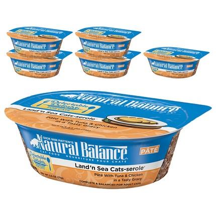 내추럴발란스 Grain Free 캣 푸드 수제 스튜 컵캔 6p, 참치&닭고기, 71g