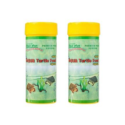 아쿠아플러스 거북이 사료, 90g, 2개