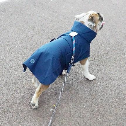 리얼펫 반려동물 심플 레인코트 겸용 바람막이 자켓, NAVY