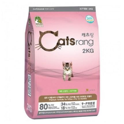 캐츠랑 NEW 2kg 키튼 고양이사료 9-FREE