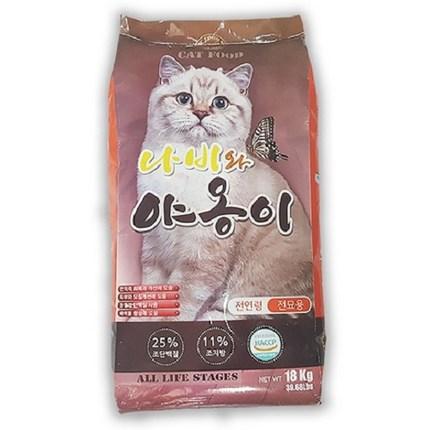 나비와야옹이 전연령 고양이사료 길고양이 길냥이 대용량, 곡물, 1개, 18kg