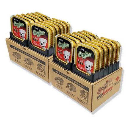 도그피앙 강아지 영양간식 사각캔, 소고기, 24개입