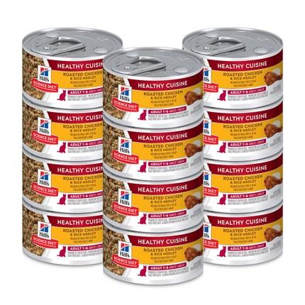 사이언스다이어트 어덜트 스튜 치킨 & 라이스 고양이 사료, 79g, 12개