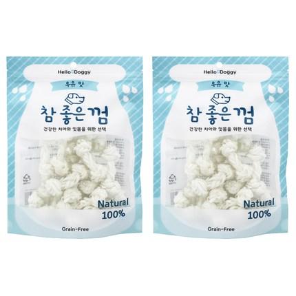 헬로도기 강아지 참좋은껌 실타래 우유껌 S 18p, 우유맛, 2개