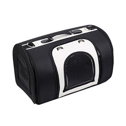 요기쏘 반려동물 심플 대형 이동가방, 블랙