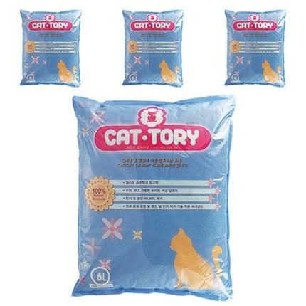 캣토리 응고형 고양이 모래 무향, 6L, 4개