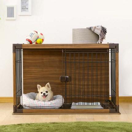 아이리스 소형 강아지 인테리어 우디 서클 PIWS-960, 브라운