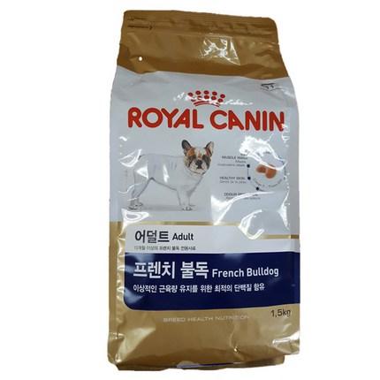 로얄캐닌 어덜트 곡물 프렌치 불독 강아지사료, 1.5kg, 1개