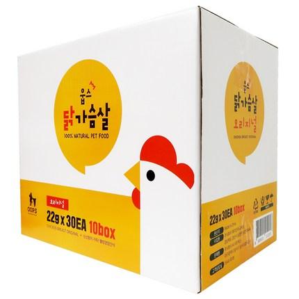 웁스 오리지날 반려동물 간식 닭 22g x 30p, 닭가슴살, 10개