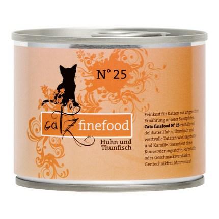 캣츠파인푸드 No25 닭고기와 참치 고양이 주식캔, 200g, 1개
