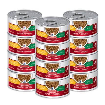 사이언스다이어트 키튼 스튜 치킨 & 라이스 고양이 사료, 79g, 12개