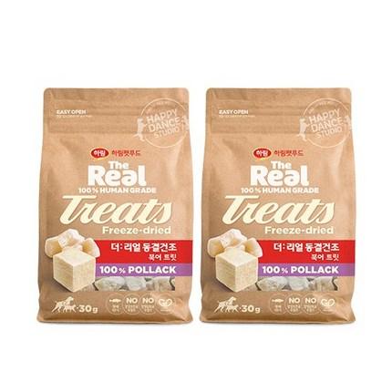 하림더리얼 강아지 동결건조 트릿, 북어맛, 2개