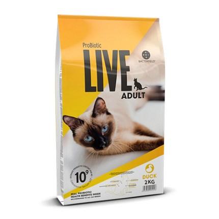 프로바이오틱라이브 어덜트 고양이 건식사료, 오리, 2kg
