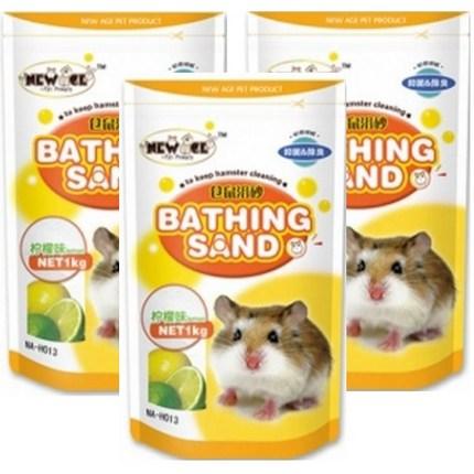 뉴에이지 햄스터 목욕모래 레몬향 NA-H013, 1kg, 1개