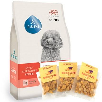 피니키 유기농 가수분해 알러지강아지사료 연어7kg + 도그피아 동결건조 고구마치즈 3개