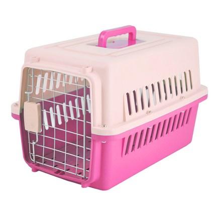 블럭마트 애완동물 이동장 하드캐리어, 핑크