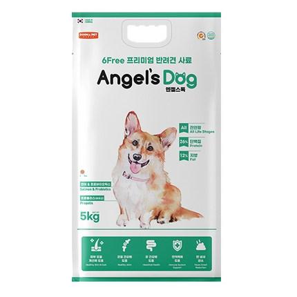 엔젤스독 전연령 강아지 건식사료 연어 & 프로바이오틱스, 생선, 5kg