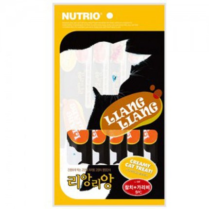 뉴트리오 리앙리앙 고양이츄르10gx5입 20개 1세트(100개) 고양이간식, 1개, 참치+가리비 20개입 1세트
