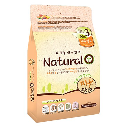 네츄럴오 유기농쌀과 연어 캣사료 피부, 1kg, 1개