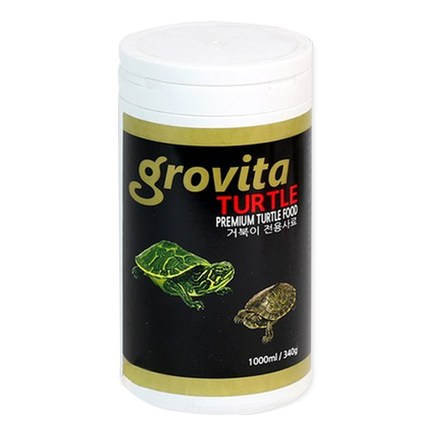 그로비타 거북이 전용사료, 1L, 1개