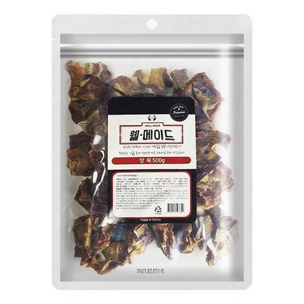 웰메이드 강아지 수제간식 대용량 500g, 양목맛, 1개