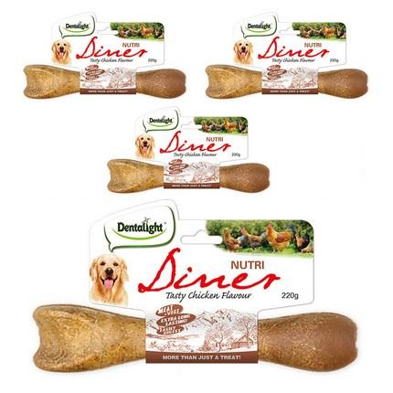 덴탈라이트 뉴트리 다이너 덴탈껌 대형견 L 220g, 닭고기 맛, 4개입