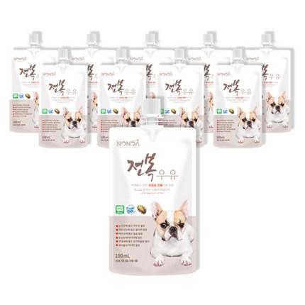 논다 강아지용 전복 우유 100ml, 전복 + 우유 혼합맛, 10개